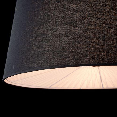 Lustra dormitor moderna Maytoni Calvin, neagra, 4xE27 60W, H:25-135cm