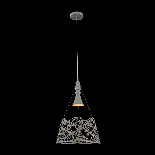 Lustra living moderna Maytoni Elva, gri, E27 60W, H:50-120cm