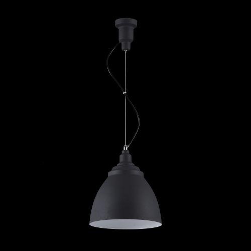 Pendul modern Maytoni Bellevue, negru, E27 60W, H:26-189cm