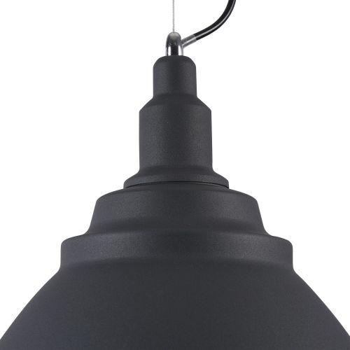 Pendul modern Maytoni Bellevue, negru, E27 60W, H:38-201cm