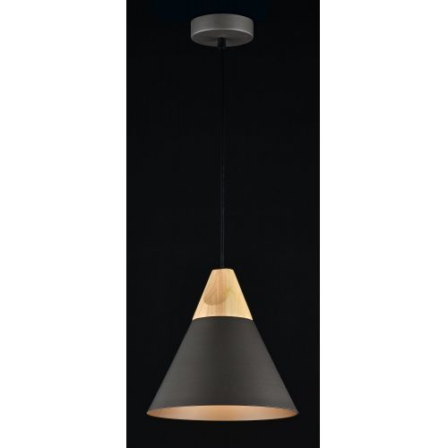 Pendul modern Maytoni Bicones, gri, E27 60W, H:14-140cm