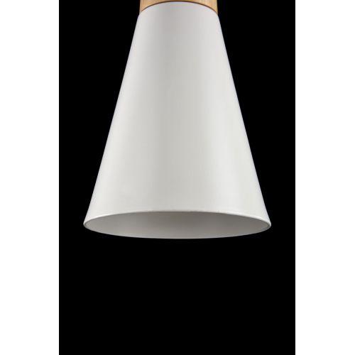 Lustra bucatarie moderna Maytoni Bicones, alba, E27 60W, H:17-142cm