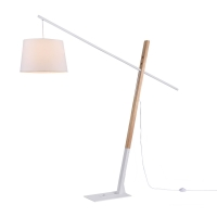 Lampadar reglabil modern Maytoni Laredo, alb, E27 60W