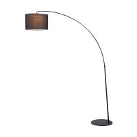 Lampadar curbat modern Maytoni Nevada, negru, E27 40W