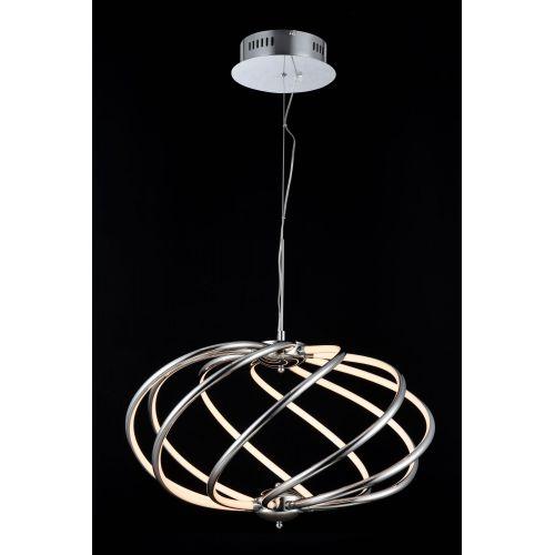 Lustra LED moderna Maytoni Venus, crom lucios, LED 28W, 1400 lumeni, H:51-94cm