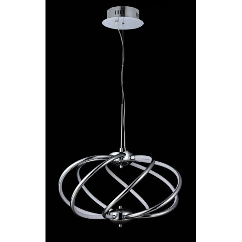 Lustra LED moderna Maytoni Venus, crom lucios, LED 40W, 2000 lumeni, H:60-123cm