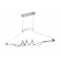 Suspensie LED moderna Maytoni Wave, crom lucios, LED 29W, 2320 lumeni, H:53-120cm