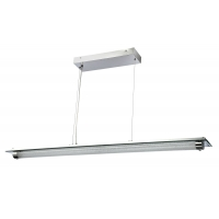 Suspensie LED moderna Maytoni Plasma, L:1200, crom lucios, LED 36W, 2520 lumeni, H:15-150cm