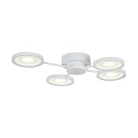 Plafoniera LED dormitor moderna Maytoni Aprilia, alba, LEd 48W, 4600 lumeni