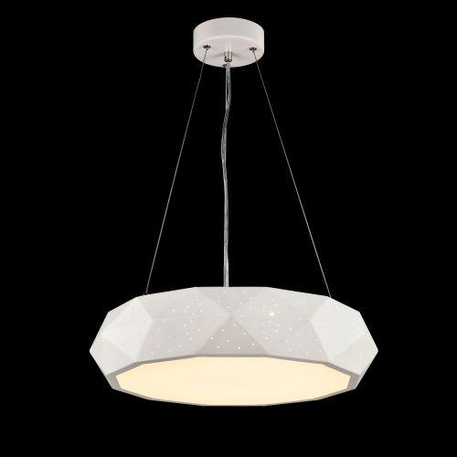 Lustra LED moderna Maytoni Ivona, alba, LED 40W, 2200 lumeni, H:20-160cm