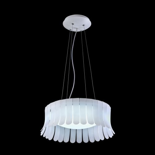 Lustra LED moderna Maytoni Degas, alba, LED 24W, 1560 lumeni, H:24-123cm