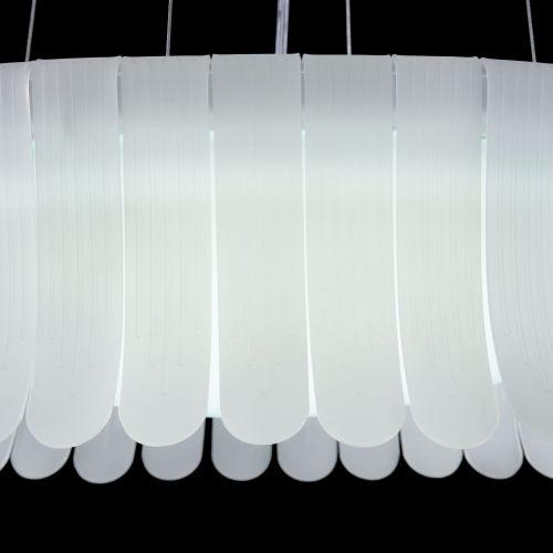 Lustra LED moderna Maytoni Degas, alba, LED 36W, 2340 lumeni, H:24-123cm