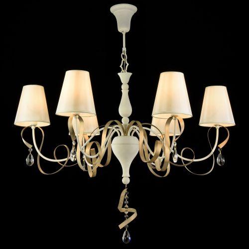 Lustra living clasica eleganta Maytoni Intreccio, alba, 6xE14 40W, H:65-105cm