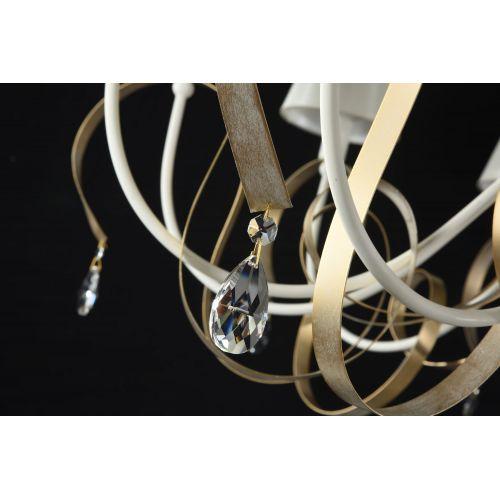 Candelabru bogat clasic Maytoni Intreccio, alb, 12xE14 40W, H:70-110cm