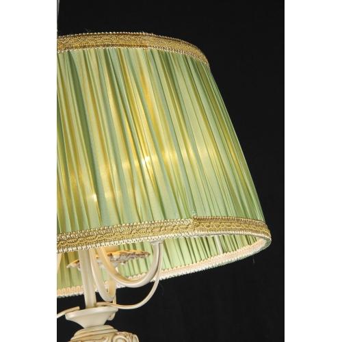 Lustra living clasica Maytoni Olivia, Verde, 5xE14 40W, H:42-92cm