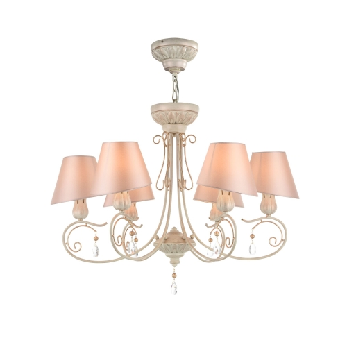 Lustra sufragerie clasica Maytoni Cutie, roz, 6xE14 40W, H:54-110cm