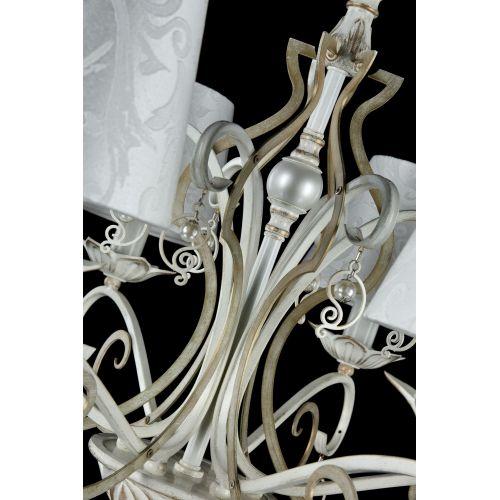 Lustra living clasica Maytoni Monile, alba, 6xE14 40W, H:59-113cm