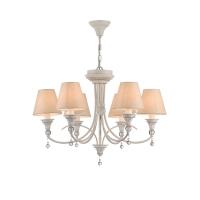 Lustra dormitor clasica Maytoni Torino, alba, 6xE14 40W, H:48-148cm