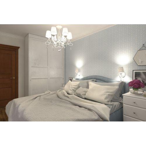 Lustra sufragerie clasica Maytoni Passarinho, alba, 6xE14 40W, H:63-103cm