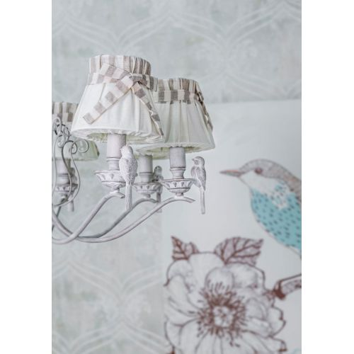 Lustra living clasica Maytoni Bird, alba, 8xE14 40W, H:38-88cm