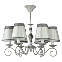 Lustra living clasica Maytoni Bouquet, gri, 6xE14 40W, H:38-78cm