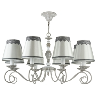 Lustra sufragerie clasica Maytoni Bouquet, gri, 8xE14 40W, H:39-79cm