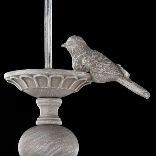 Lustra bucatarie clasica Maytoni Bouquet, gri, E14 40W, H:26-176cm