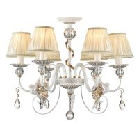 Lustra living clasica Maytoni Elina, aurie, 6xE14 40W, H:51-91cm