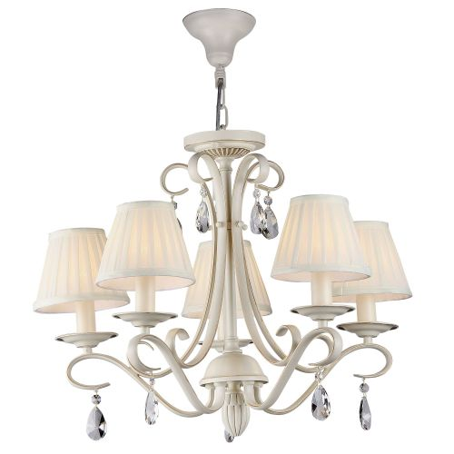 Lustra sufragerie clasica Maytoni Brionia, aurie, 5xE14 40W, H:48-98cm
