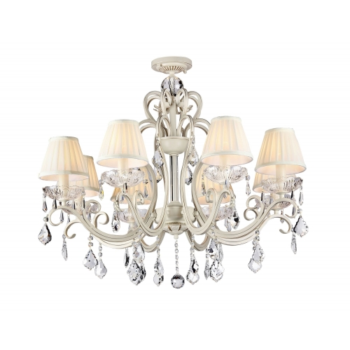 Lustra living clasica Maytoni Triumph, aurie, 8xE14 40W, H:74-124cm