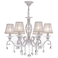 Lustra living clasica Maytoni Grace, aurie, 6xE14 40W, H:56-116cm