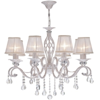 Lustra living clasica Maytoni Grace, aurie, 8xE14 40W, H:59-119cm