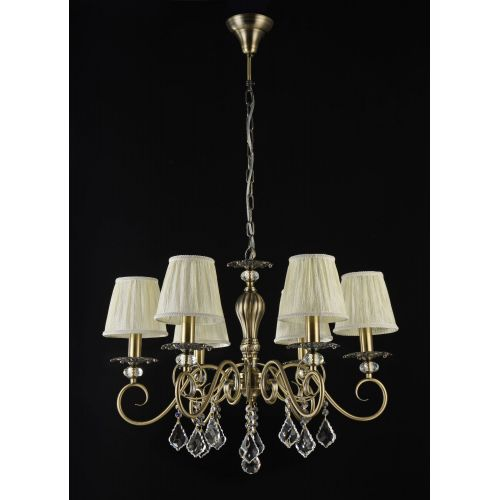 Lustra sufragerie clasica Maytoni Vanessa, bronz, 6xE14 40W, H:52-102cm