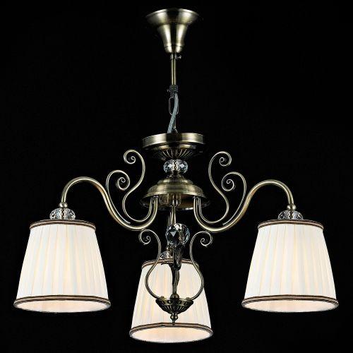Lustra dormitor Maytoni Vintage, bronz, 3xE14 40W, H:36-86cm