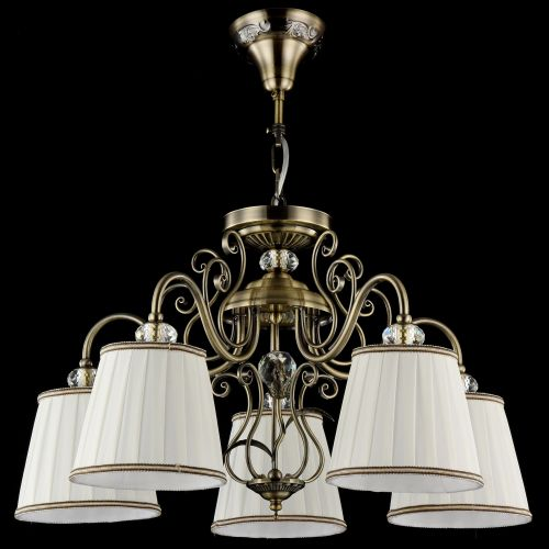 Lustra living Maytoni Vintage, bronz, 5xE14 40W, H:36-86cm