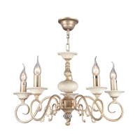 Lustra living clasica Maytoni Perla, aurie, 5xE14 60W, H:36-86cm