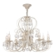 Lustra living clasica Maytoni Princess, aurie, 8xE14 60W, H:44-104cm
