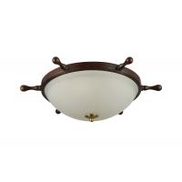 Plafoniera dormitor clasic Maytoni Frigate, bronz, 3xE14 60W
