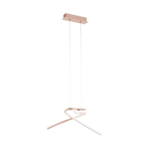 Lustra suspendata LED moderna auriu-roz PALOZZA, alb cald
