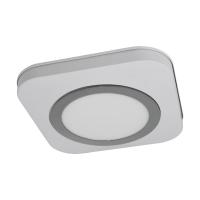 Plafoniera LED moderna alb-crom OLMOS, alb cald, IP44, 16W, 1200lm, 3000K