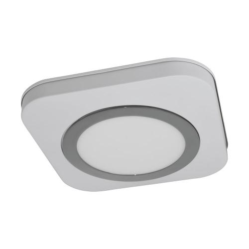 Plafoniera LED moderna alb-crom OLMOS, alb cald, IP44