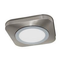 Plafoniera LED moderna nichel mat-crom OLMOS, alb cald, IP44