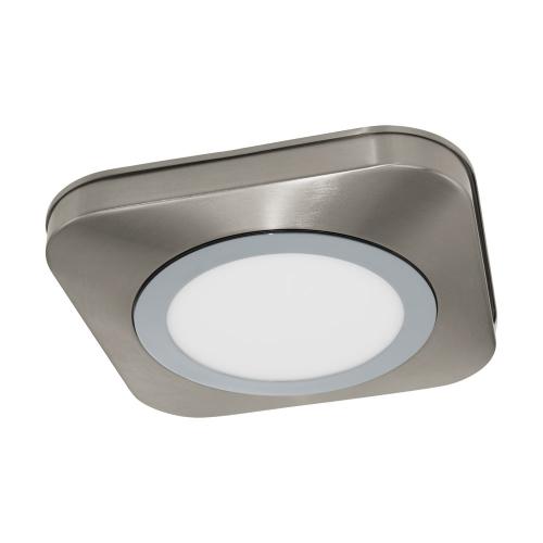 Plafoniera LED moderna nichel mat-crom OLMOS, alb cald, IP44, 16W, 3000K, 1200lm