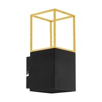 Aplica LED moderna negru-auriu MONTEBALDO, 1xGU10-LED, alb cald