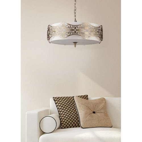 Lustra living clasica Maytoni Burgeon, aurie, 6xE14 40W, H:25-118cm