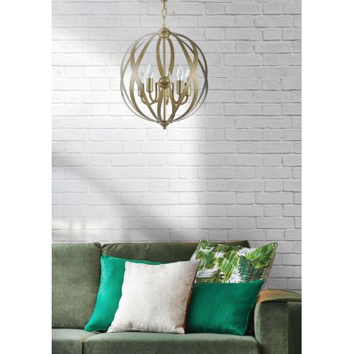 Lustra dormitor clasica Maytoni Petra, aurie, 3xE14 40W, H:53-143cm