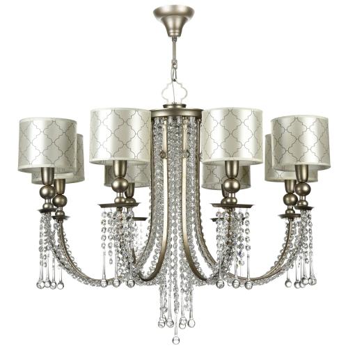 Lustra living Art Deco cristal Maytoni Bience, aurie, 8xE14 40W, H:78-97cm