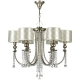 Lustra dormitor Art Deco cristal Maytoni Bience, aurie, 6xE14 40W, H:74-97cm