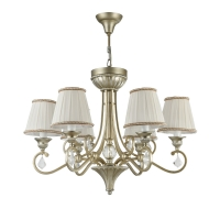 Lustra dormitor clasica Maytoni Valbonne, aurie, 6xE14 40W, H:60-143cm