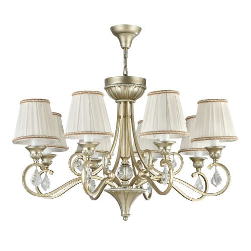 Lustra living clasica Maytoni Valbonne, aurie, 8xE14 40W, H:60-143cm